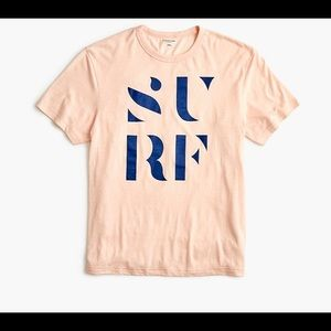 J. CREW | triblend surf graphic tee men's small
